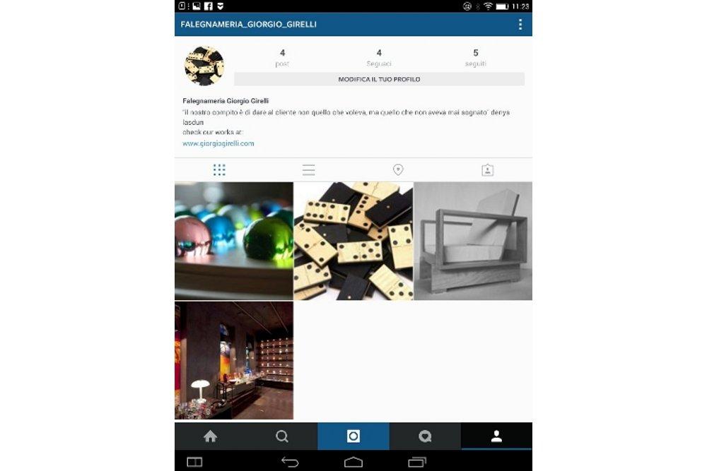 Instagram Giorgio Girelli home